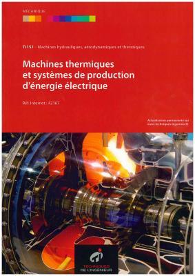 machine thermiques et systèmes de production d'énergie électrique
